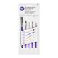 Wilton 5 Piece Decorating Brush Set Purple