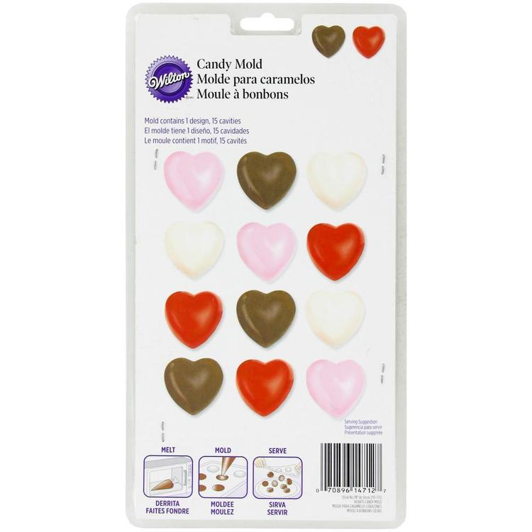 Wilton Hearts Chocolate Mould Brown