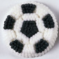 Wilton Soccer Ball Icing Decals Black & White