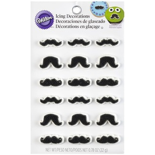 Wilton Icing Decorating Moustache Shapes