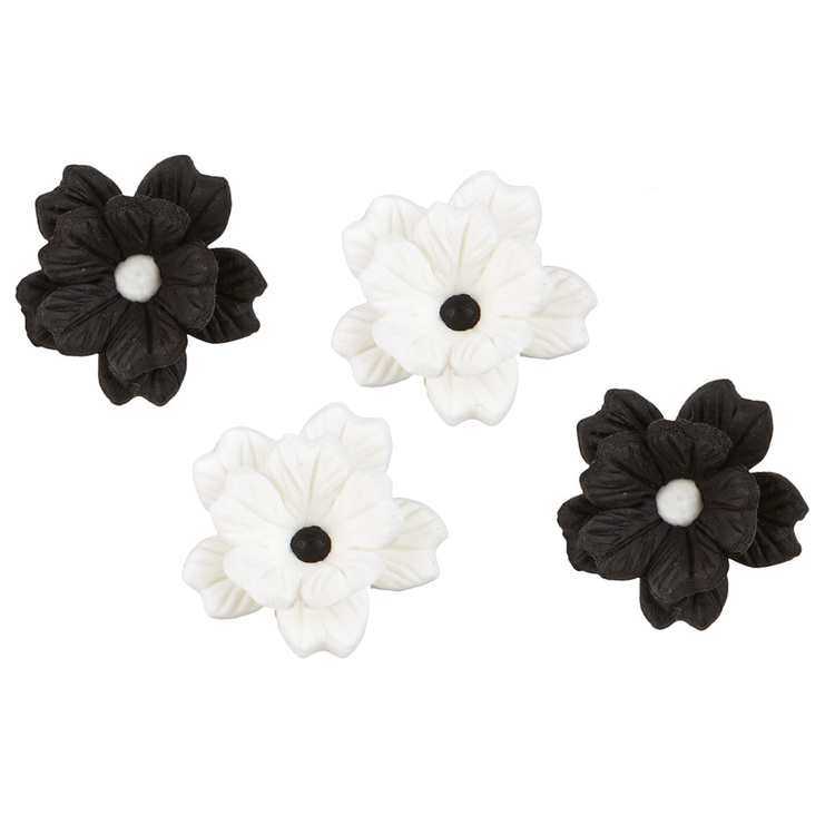 Wilton Royal Flower Black & White