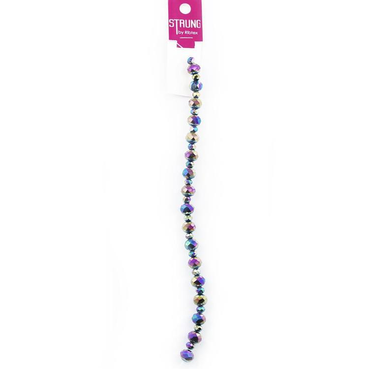 Ribtex Strung Faceted Crystal Beads