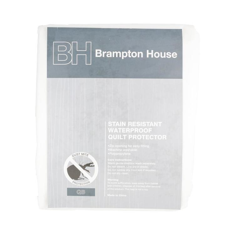 Brampton House Waterproof Quilt Protector White