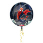 Amscan Foil Orbz Spider-Man Balloon Black & Red 43cmx45cm