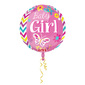 Amscan Foil Orbz Sweet Baby Girl Balloon Pink 40 cm