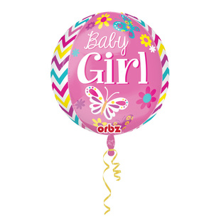 Amscan Foil Orbz Sweet Baby Girl Balloon