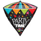 Amscan Foil Diamondz Party Time Balloon Black 40 cm