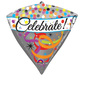 Amscan Foil Diamondz Celebrate Balloon Dark Grey 40 cm