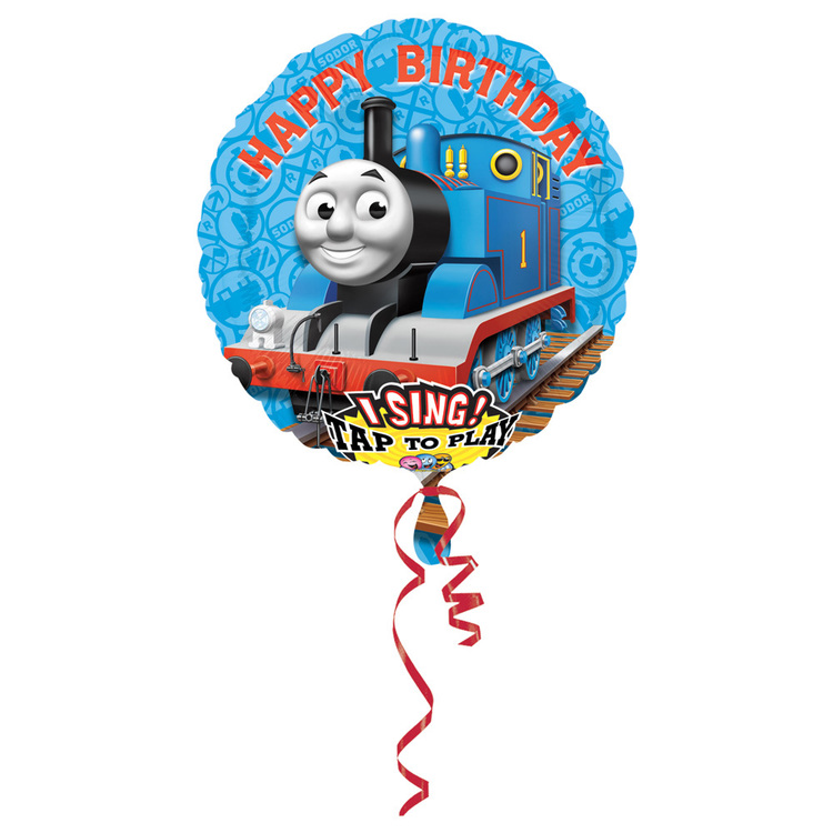 Amscan Foil Singatune Thomas Happy Birthday Balloon Blue 71cms