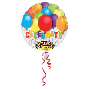 Amscan Foil Singatune Happy Birthday Celebrate Balloon