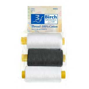 Birch Cotton 500m Thread 3 Pack
