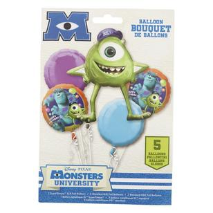 Disney Pixar Monsters University Foil Balloon Bouquet