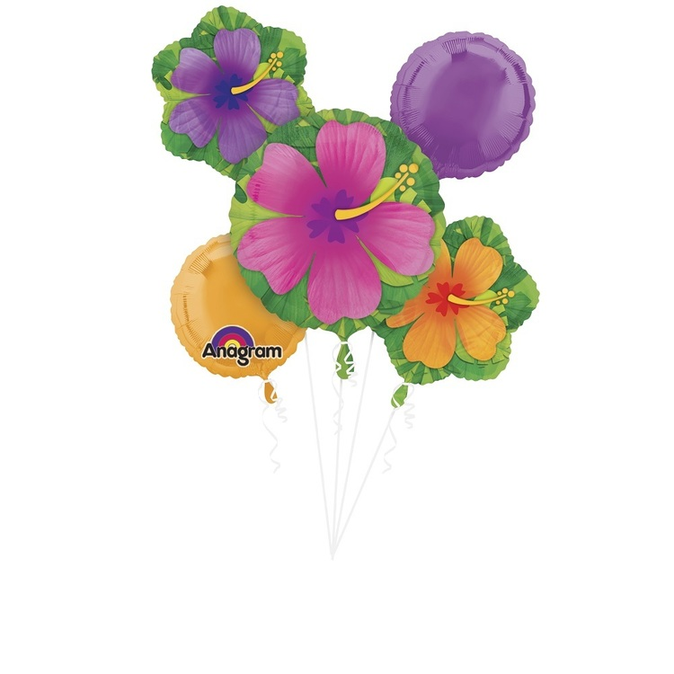Amscan Floral Foil Balloon Bouquet Multicoloured
