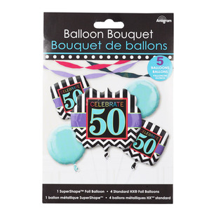 Amscan Celebrate 50 Foil Balloon Bouquet