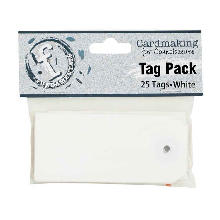 Fundamentals Rectangle Tag Pack 25 Pack