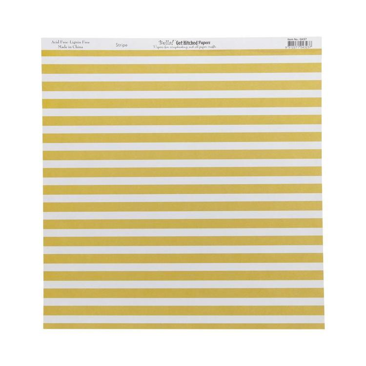 Bella! Get Hitched Stripe Double-Sided Cardstock Multicoloured 30 x 30 cm