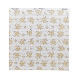 Bella! Get Hitched Floral Double-Sided Cardstock