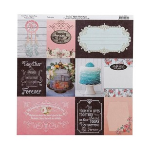 Bella! Rustic Charm Cut-Outs Double-Sided Cardstock