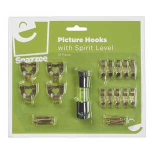Seymours Snazzee 14 Piece Picture Hook Set