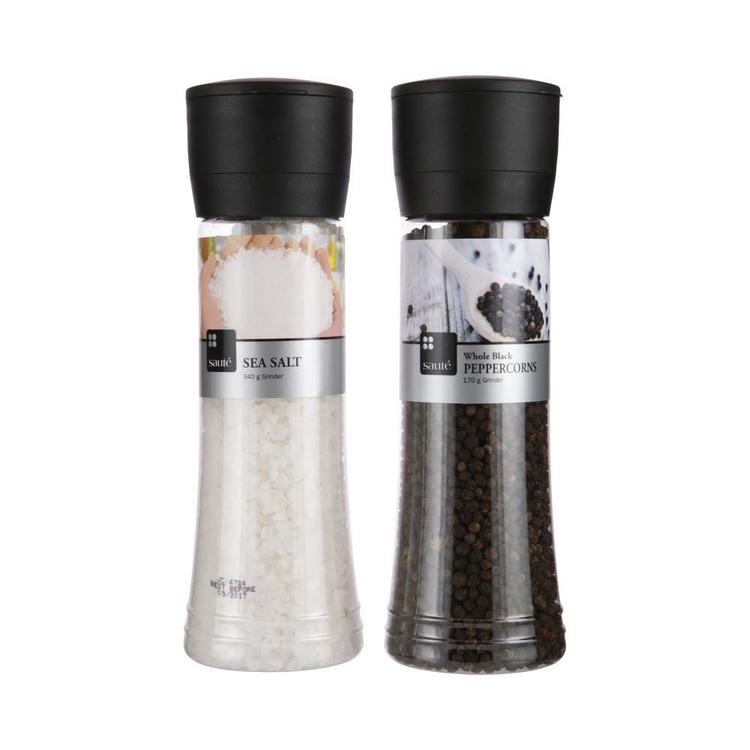 Gfresh Salt And Pepper Twin Pack Grinders Black