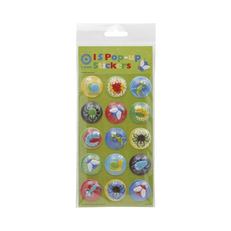 World Greetings Pop Up Bugs Stickers Multicoloured