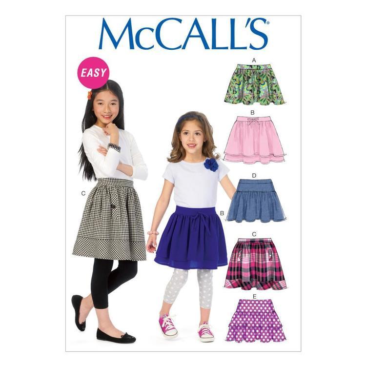 McCall's Pattern M6984 Girls' Skirts