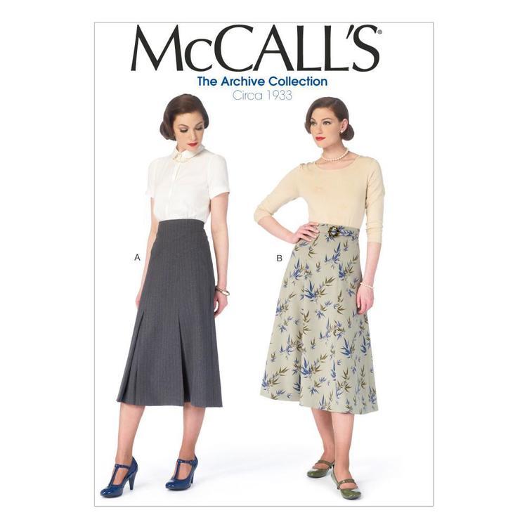 McCall's Pattern M6993 Misses' Skirts & Belt