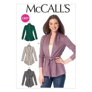 McCall's Pattern M6996 Misses' Jackets & Belt