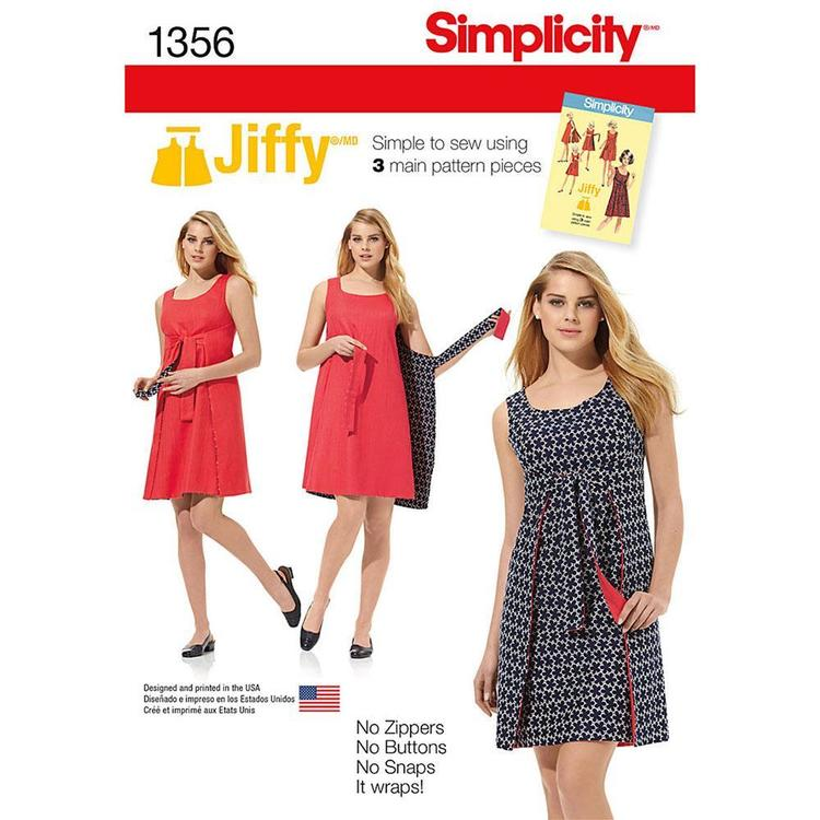 Simplicity Pattern Vintage 1356 Women's Dress