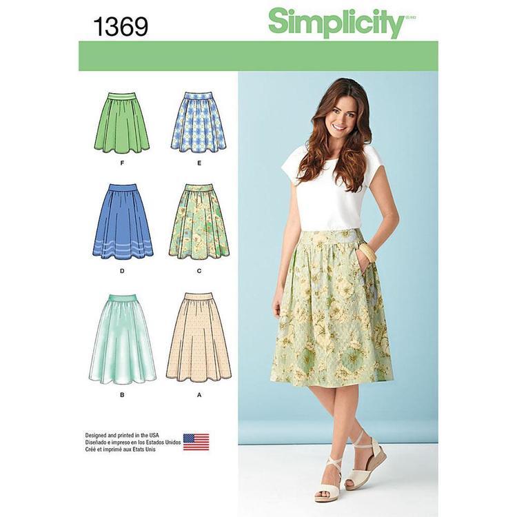 Simplicity Pattern 1369 Women's Skirt