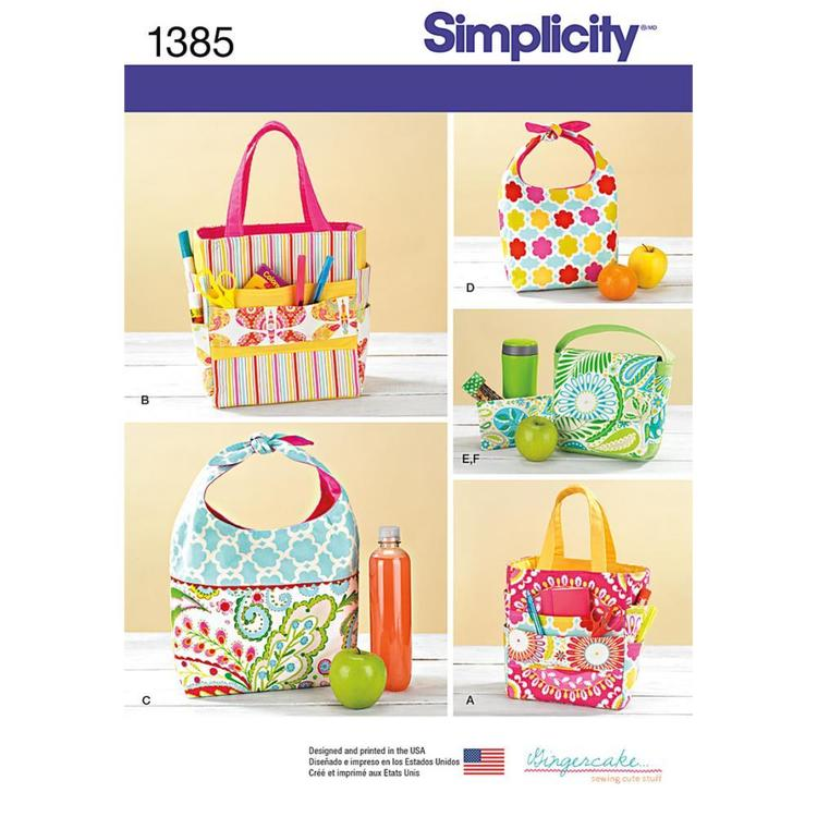 Simplicity Pattern 1385 Lunch Bags