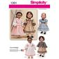 Simplicity 1391 Civil War Doll Costumes  One Size