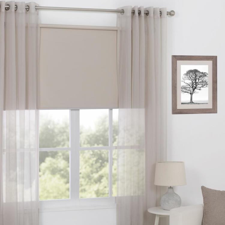 Koo Orlando Eyelet Curtain Stone