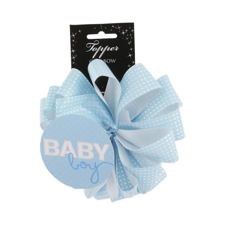 Artwrap Spots Ribbon Bow Topper Light Blue
