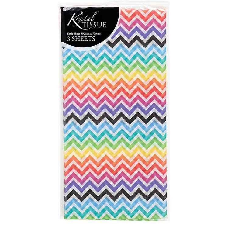 Artwrap Folded Zig Zag Tissue Paper Sheets Multicoloured