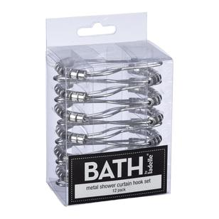Bath By Ladelle 12 Shower Curtain Hook Set