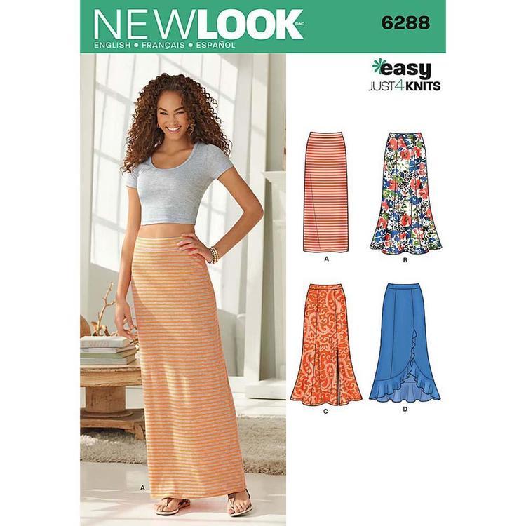 New Look Pattern 6288 Women's Skirt