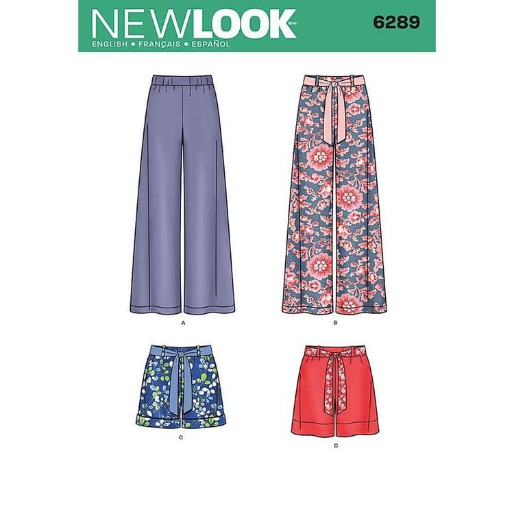 New Look Pattern 6289 Women's Pants