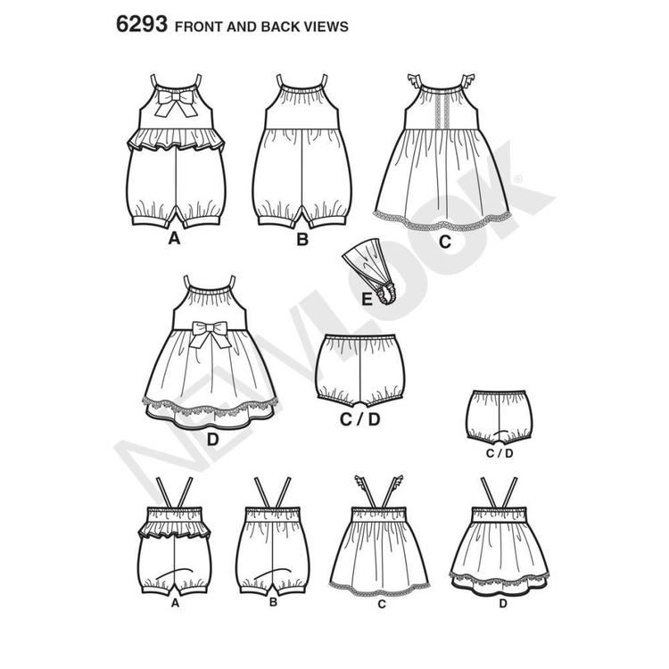 New Look Pattern 6293 Girl's Coordinates  Small - Large