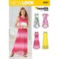 New Look 6297 Girl's Dress  8 - 16