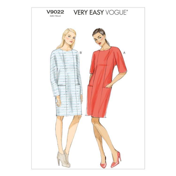 Vogue Pattern V9022 Misses' Dress