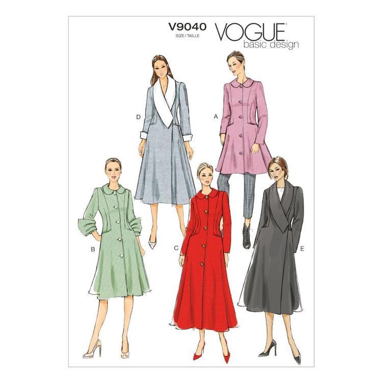 Vogue Pattern V9040 Misses' Coat
