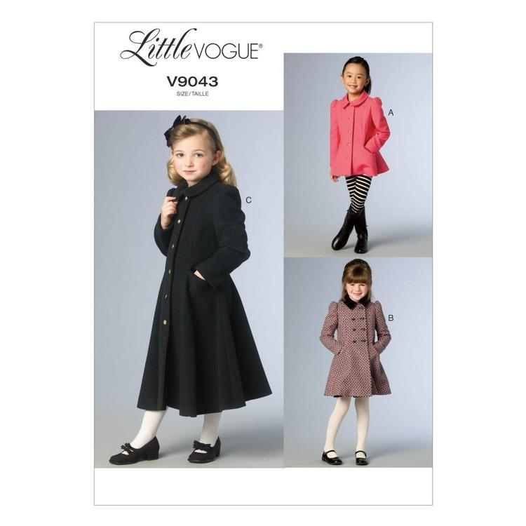 Vogue V9043 Girls' Jacket & Coat