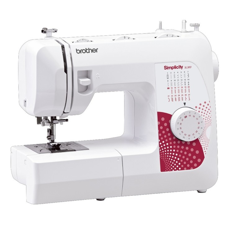 Brother By Simplicity SL300 Mechanical Sewing Machine White & Red