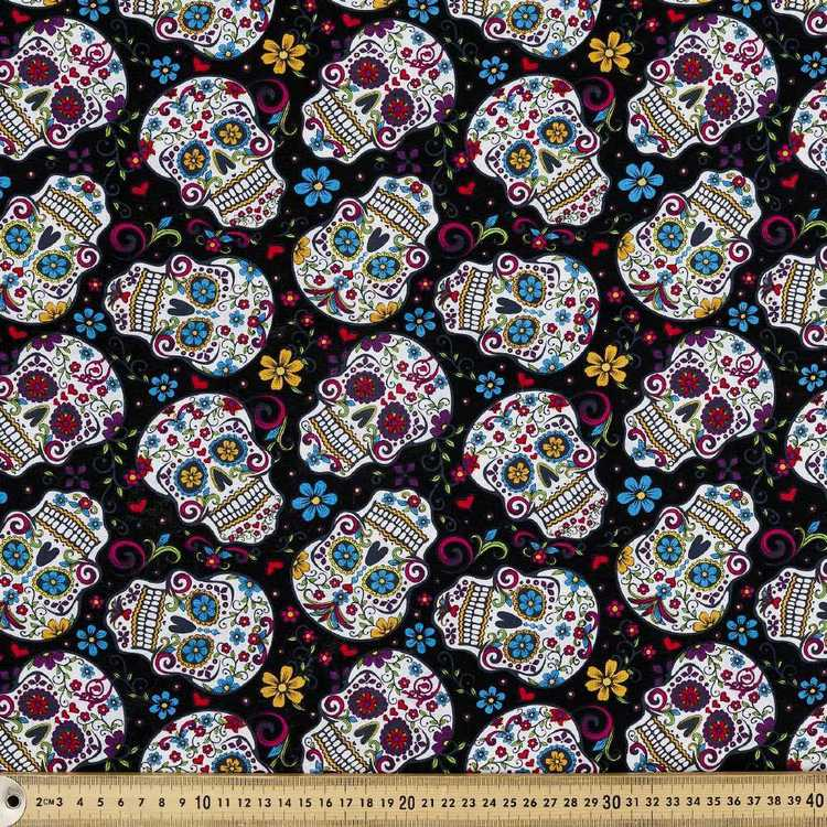 David Textiles Day Of The Dead Skulls Fabric