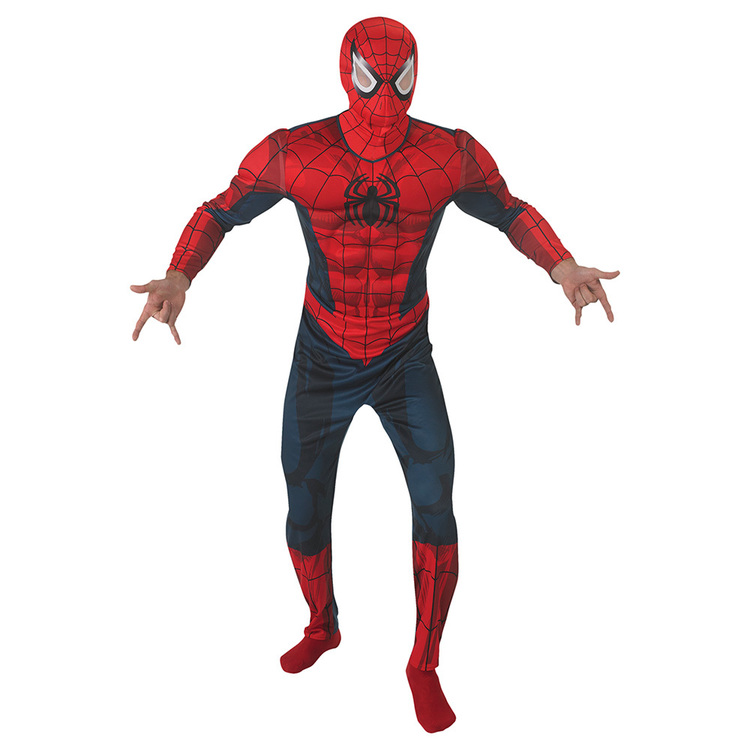 Marvel Spider Man Deluxe Adult Costume Multicoloured