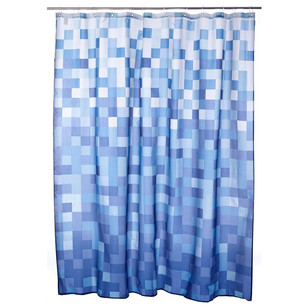 Bath By Ladelle Mosaic Ocean Shower Curtain