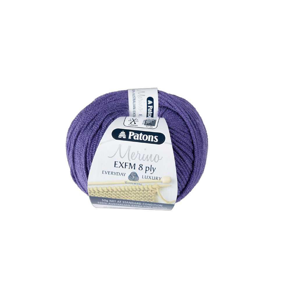 NEW-Patons-Extra-Fine-Merino-Wool-8Ply-Yarn-50-g-By-Spotlight