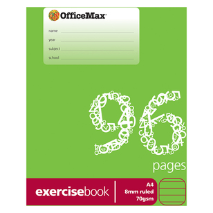 OfficeMax A4 96 Pages Exercise Book
