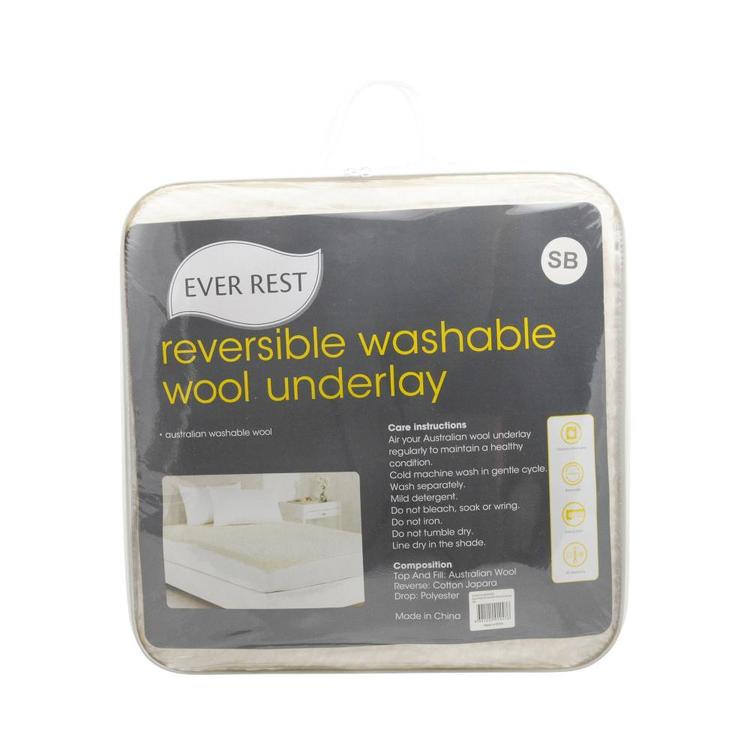 Ever Rest Reversible Wool Underlay White